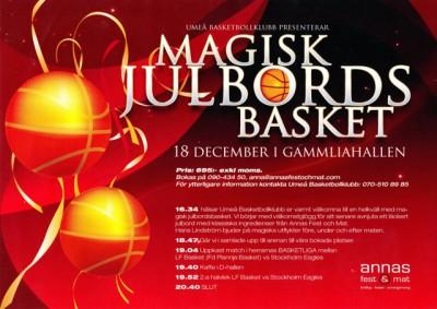 Magiker på julfest / julbord åt Umeå basketbollklubb