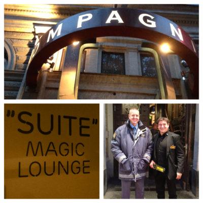 Magiker Hans LIndström underhpller Ericsson på Sturecompagniet i Stockholm