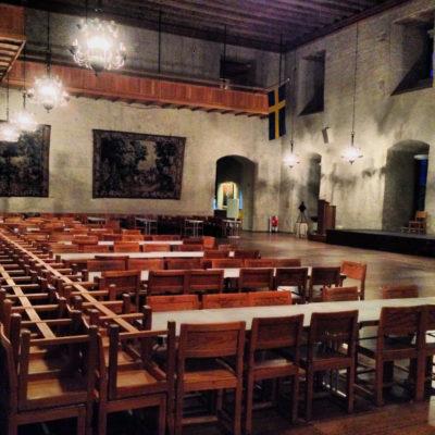 Rikssalen Uppsala slott Loge i kväll för magiker Hans Lindström