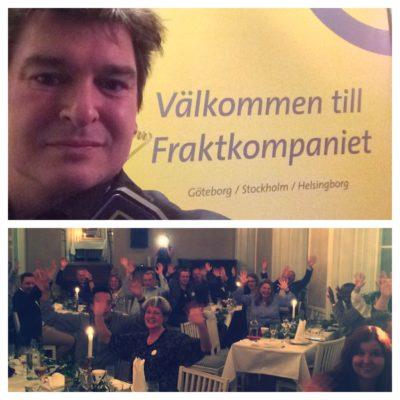 middagsunderhållning kundevent fraktkompaniet i Stockholm