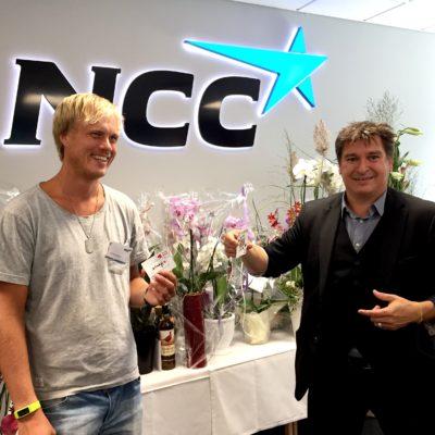magiker Hans Lindström invigning NCC Helsingborg