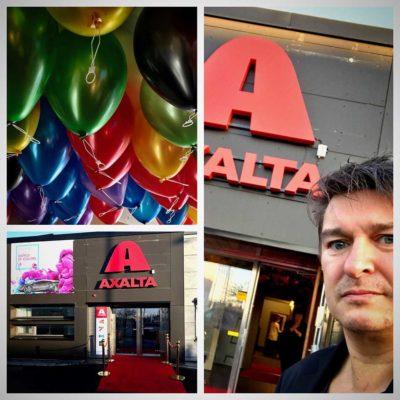 underhållning invigning Axalta i Göteborg