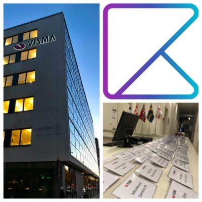 konferensunderhållning i Stockholm på frukostevent åt Kwick hos Visma
