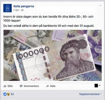 förfalskade magi sedlar