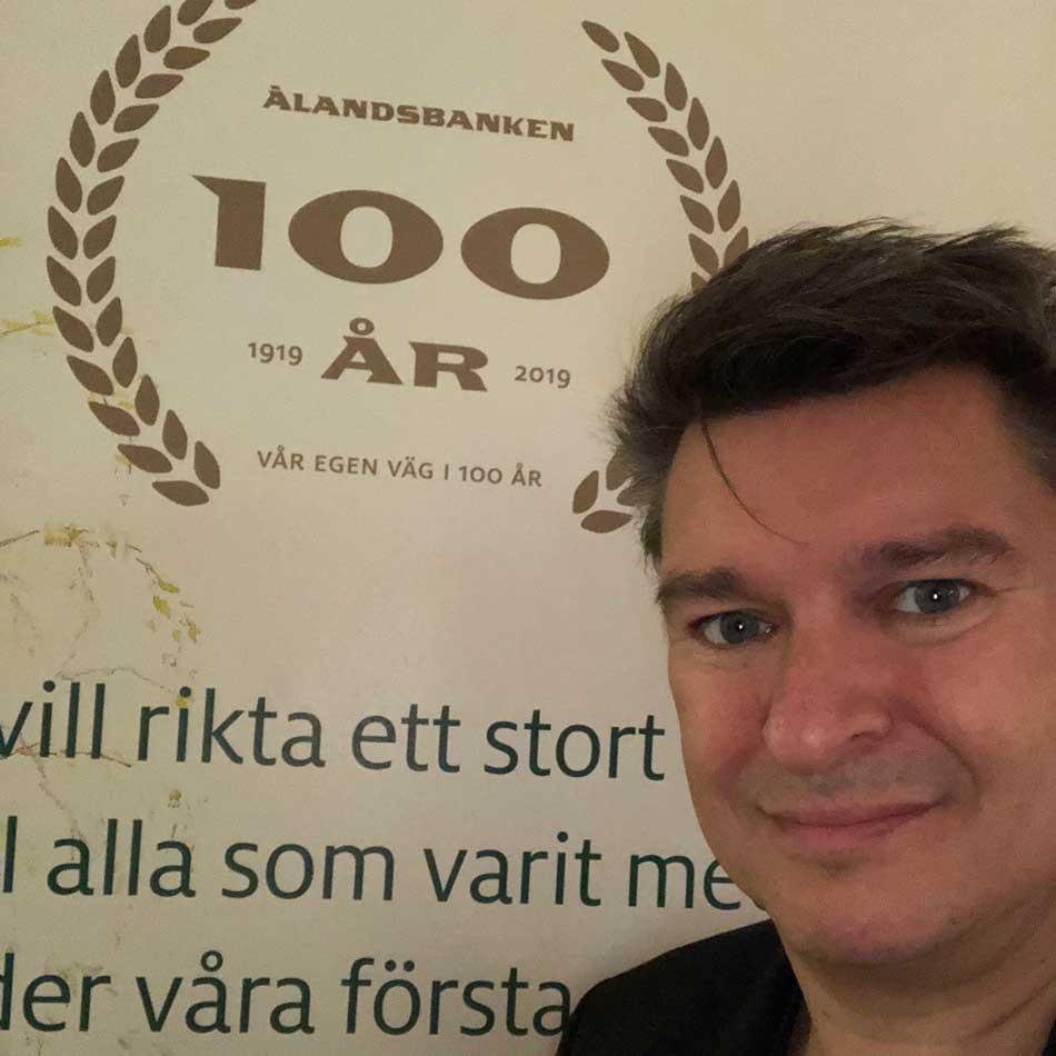 magiker Ålandsbanken 100 år Stockholm