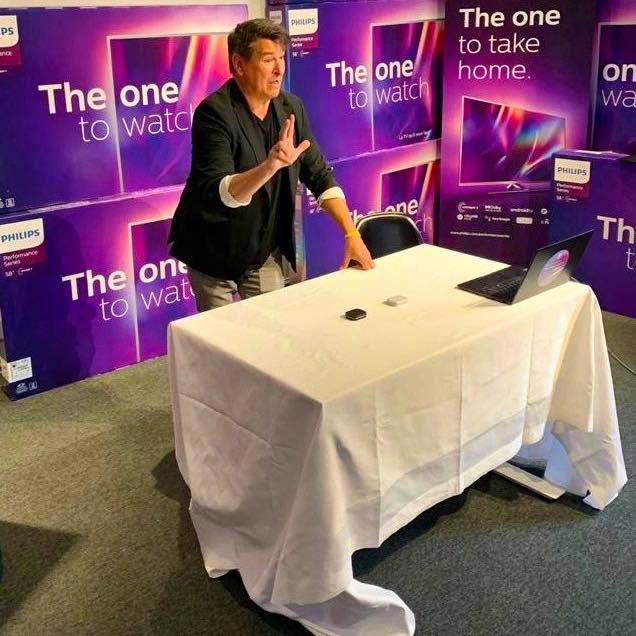 interaktiv magi live stream åt philips magiker hans lindström